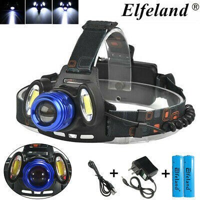 90000LM T6 LED Headlight Headlamp Head Torch Light Lamp + Rechargeable 18650
