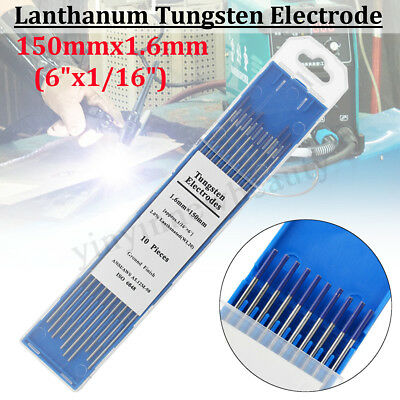 10 pack TIG Tungsten Electrodes 2% Lanthanated 1.6mm Welding PREMIUM QUALITY