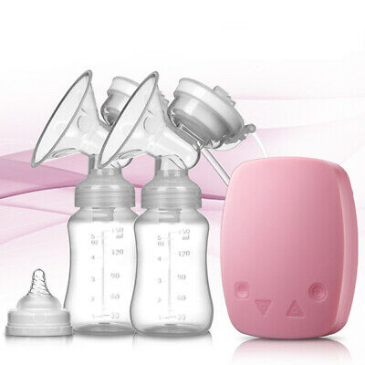 Electric Breast Pump Mute Automatic Dual Breastpump Baby Infant Feeding+ Bottle