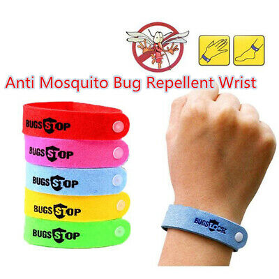 New Anti Mosquito Pest Insect Bug Repeller Repellent Wrist Band Bracelet Nylon