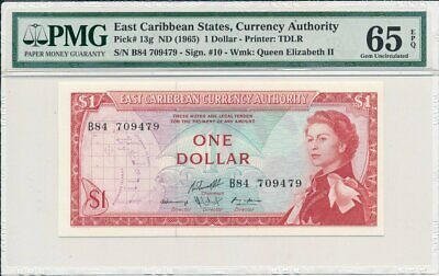 1 Dollar Nd 1965 P-13e east Caribbean Currency Authority Good Ostkaribisch