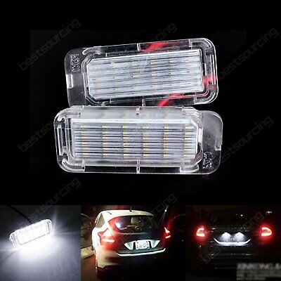 2X Canbus LED License Number Plate Light Ford Fiesta Focus C-Max Kuga Mondeo XF