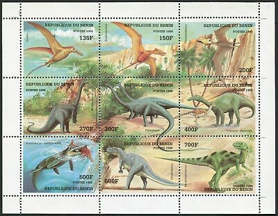 Animal Kingdom Benin 1040-1048 Sheetlet Mint Never Hinged Mnh 1998 Prehistoric Animals Stamps