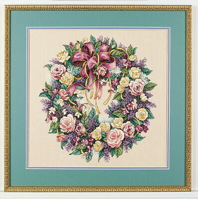 Dimensions Counted Cross Stich the Gold Collection WREATH OF ROSES 70-003837