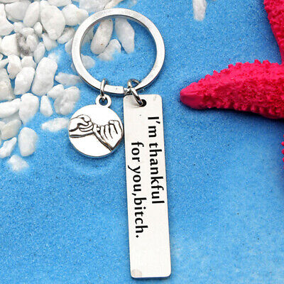 Unisex I'm Thankful For You Keychains Keyring Keychain Stainless Steel Gift B