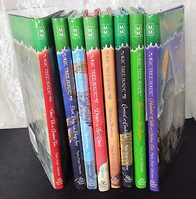 Magic Tree House Hard Cover Books Lot of 8 Complete with Dust Covers EUC