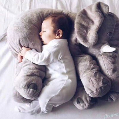 Soft Elephant Doll Pillow Plush Stuff Toy Lumbar Pillow Cushion Baby Gift US