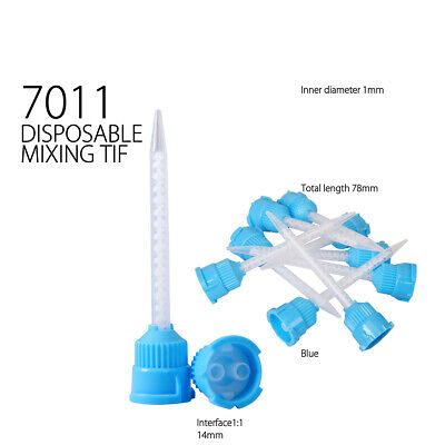 Disposable Dental Impression Mixing Tips Silicone Rubber Film -7011-Blue- 50pcs