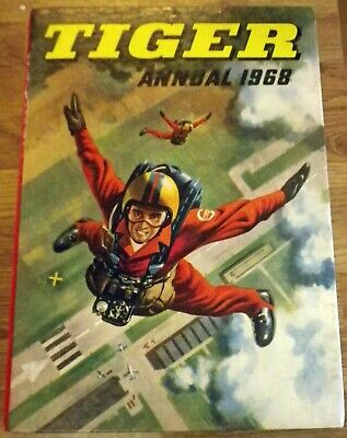 Tiger Annual 1968 Boys Annual - Very Good Condition unclipped