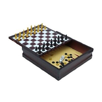 11 In 1 Game Board Set Chess Checkers Backgammon Family Party Portable Playsset
