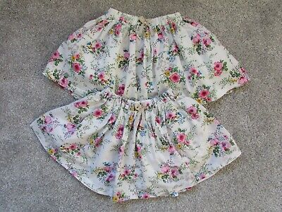 Twins 2 x Next girls 12-18 months floral Summer skirts  - Very good condition