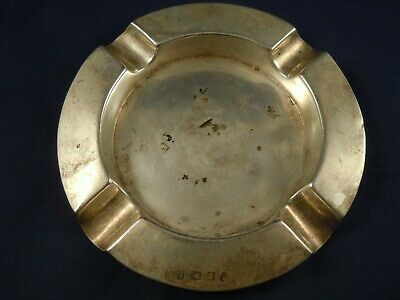 An antique solid sterling silver ashtray hallmarked Birmingham 1907