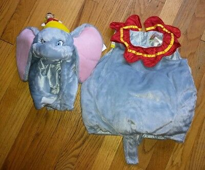 Disney Store Dumbo Movie Plush 2 Piece Costume Baby Infant  6-12 Months Elephant