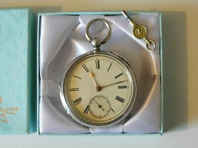 Beautiful Antique Victorian Hallmarked Silver Fusee Pocket Watch Dated 1884.