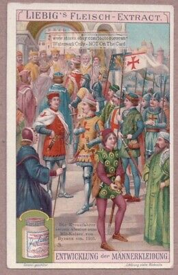 Crusaders Meet Emperor of Byzantine Empire c1905 Trade Ad Card
