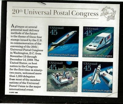 United States Air Mail Scott # C126  20Th Universal Postal Congress Mint NH