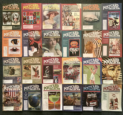 POSTCARD COLLECTOR MAGAZINE - 24 Issues 1996 & 1997 - GREAT Reference Material!