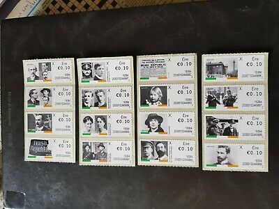 Ireland 1916/2016 Anniversary Atm Set All Issues Unmounted Mint