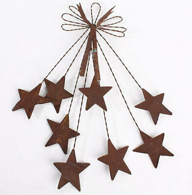 Unique Rusted Tin Bow and Star Spray Hanger