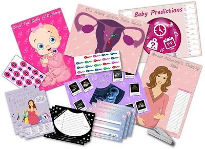 Baby Shower Party Games - 6 GAMES -  PINK/GIRL    up to 20 players
