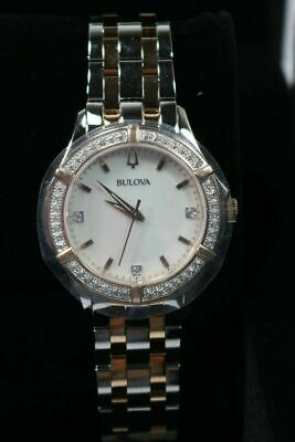 Bulova 98R271 Women's 34mm Two-Tone Rose Gold Stainless Steel Watch