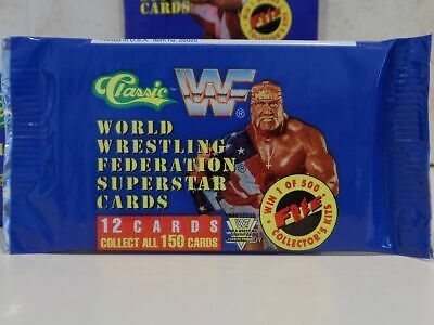 Wwf Classic Superstar Trading Cards Unopened Packet Wrestling 1991 Hasbro Wwe