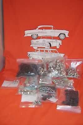 1955 Chevy Front Sheetmetal Fastener Bolt Kit 150 210 Belair Sedan Wagon Hardtop