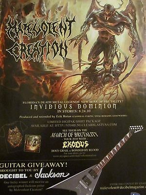 Malevolent Creation, Invidious Dominion, Full Page Promotional Ad