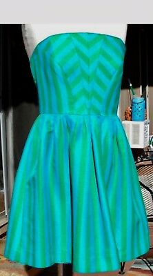 76f19e4aeb7156 Blue/Green Turquoise-Swizzle Striped Strapless EVE Dress @ LILLY PULITZER  Sz.4