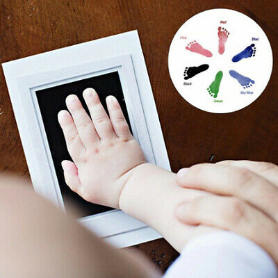 New Baby Paw Print Pad Foot Photo Frame Touch Ink Pad Baby Items Souvenir Gift H