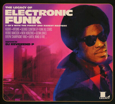 """The Legacy Of Electronic Funk """" Various """" 3 X Cd Set Sealed 34 Tracks"""