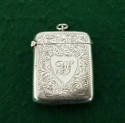 Antique HM 1901 Chester William Neale Sterling Silver Vesta Case
