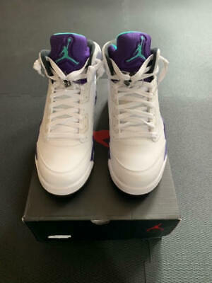 low priced 7d8b2 52113 NIKE AIR JORDAN Grape Retro 5 Mens 10 White Purple 2013 VNDS NOS Worn once