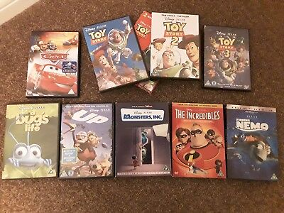 JOB LOT (9) DISNEY.PIXAR DVDs COLLECTOR'S EDITIONS, O RINGS , ETC. ALL LISTED.