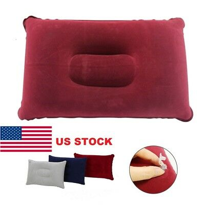 US Inflatable Air Pillow Cushion Ultralight Travel Hiking Camping Rest Portable