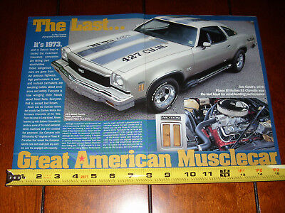 1973 Chevrolet Ss Chevelle 427 Motion Performance - Original 2000 Article