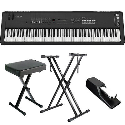 YAMAHA MX88 88-KEY GHS Music Synthesizer BUNDLE W/ Stand, Bench, Pedal *New*