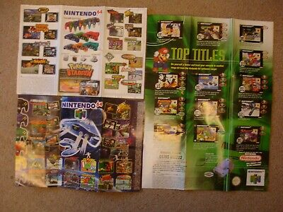 Nintento 64 N64 and Gameboy in game Leaflets x3