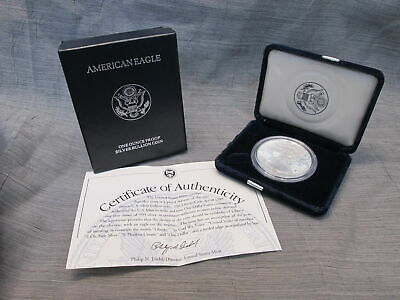 1988-S American Eagle Silver Dollar Proof in OGP Box + COA  Clean Blemish-Free
