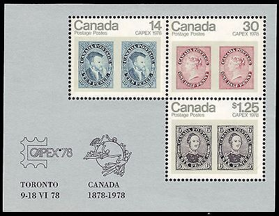 CANADA 756a - CAPEX '78 Souvenir Sheet of Three (pa33009)