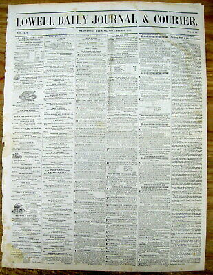 <1848 newspaper JAMES POLK STATE OF UNION SPEECH announces CALIFORNIA GOLD RUSH