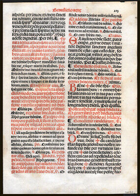 1566 Missal Leaf Lot Two (2) Sequential Leaves  Numerous Blessings Fresh Fruit