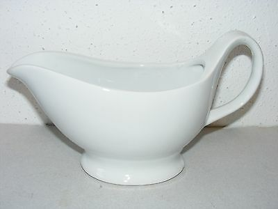 BIA white porcelain sauce gravy boat serving dish 2 cup ~F
