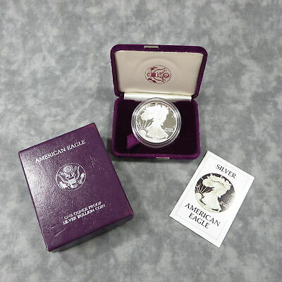 1986-S American Eagle Silver Proof in OGP Box + COA CLEAN Blemish-Free Coin