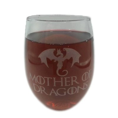 CUSTOM GoT Game of Thrones Mother Of Dragons Stemless Wine Glass Engraved 21 oz