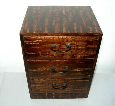 GORGEOUS Extraordinary CHERRY BARK 3 Drawer BOX for JEWELRY TREASURES 12 in HIGH