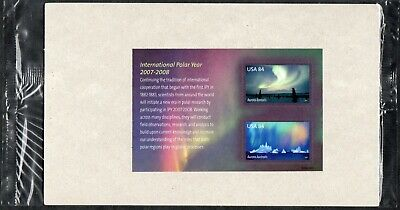 2007 International Polar Year Souvenir Sheet In Sealed Usps Pkg (Sc# 4123)