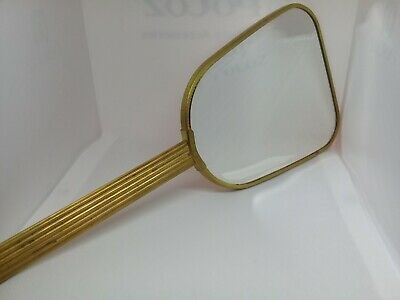 Rare old vintage beautiful big size brass Copper, hand mirror of 40's