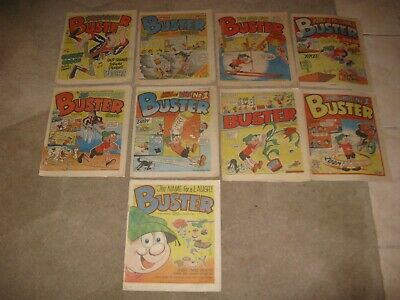 Collection Of 9 Buster Comics All 1984/85