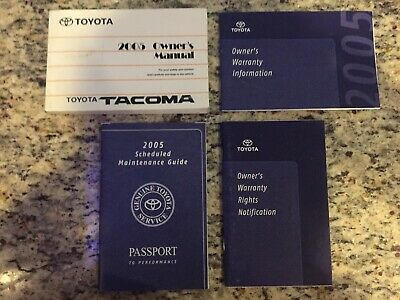 2005 tacoma owners manual